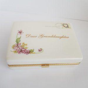 """Dear Granddaughter"" Porcelain Jewelry Music box"